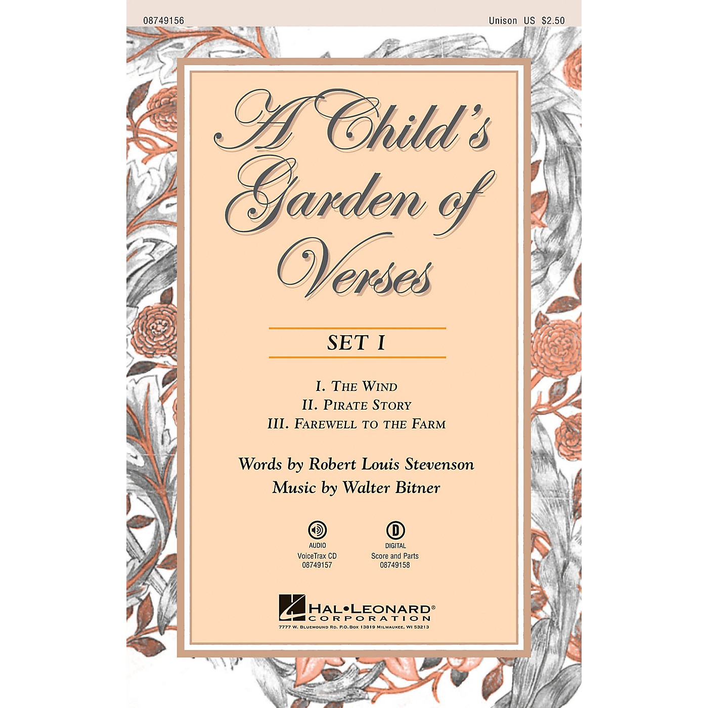 Hal Leonard A Child's Garden of Verses (Set I) VoiceTrax CD Composed by Walter Bitner thumbnail