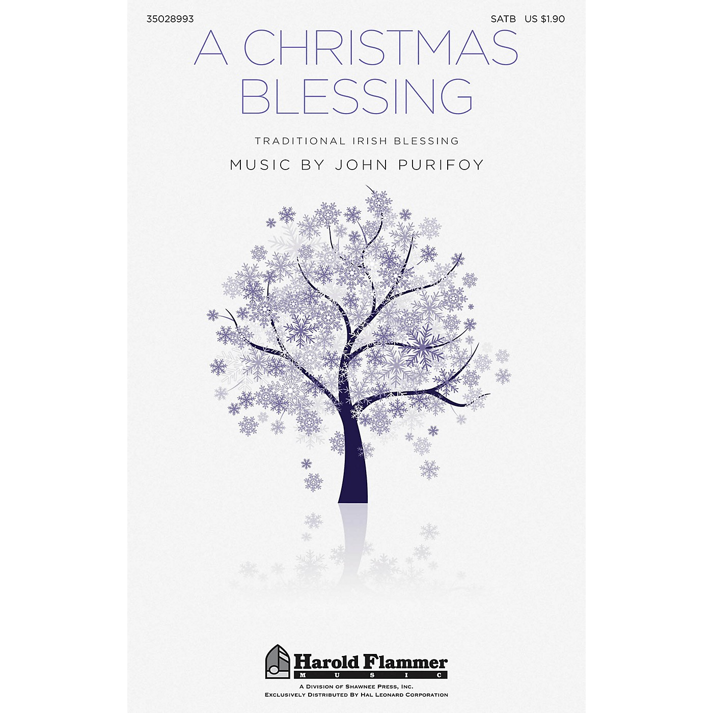 Shawnee Press A Christmas Blessing SATB composed by John Purifoy thumbnail