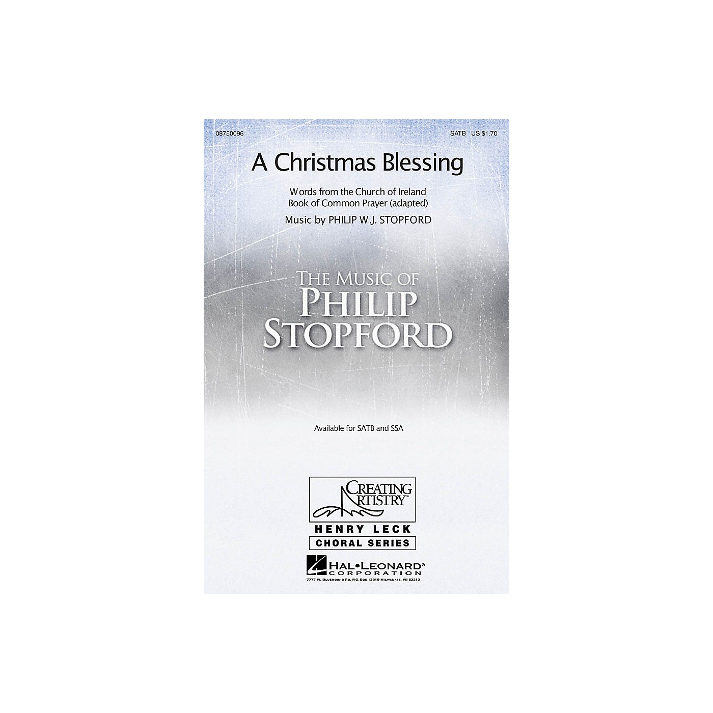 Hal Leonard A Christmas Blessing SSA Composed by Philip Stopford thumbnail