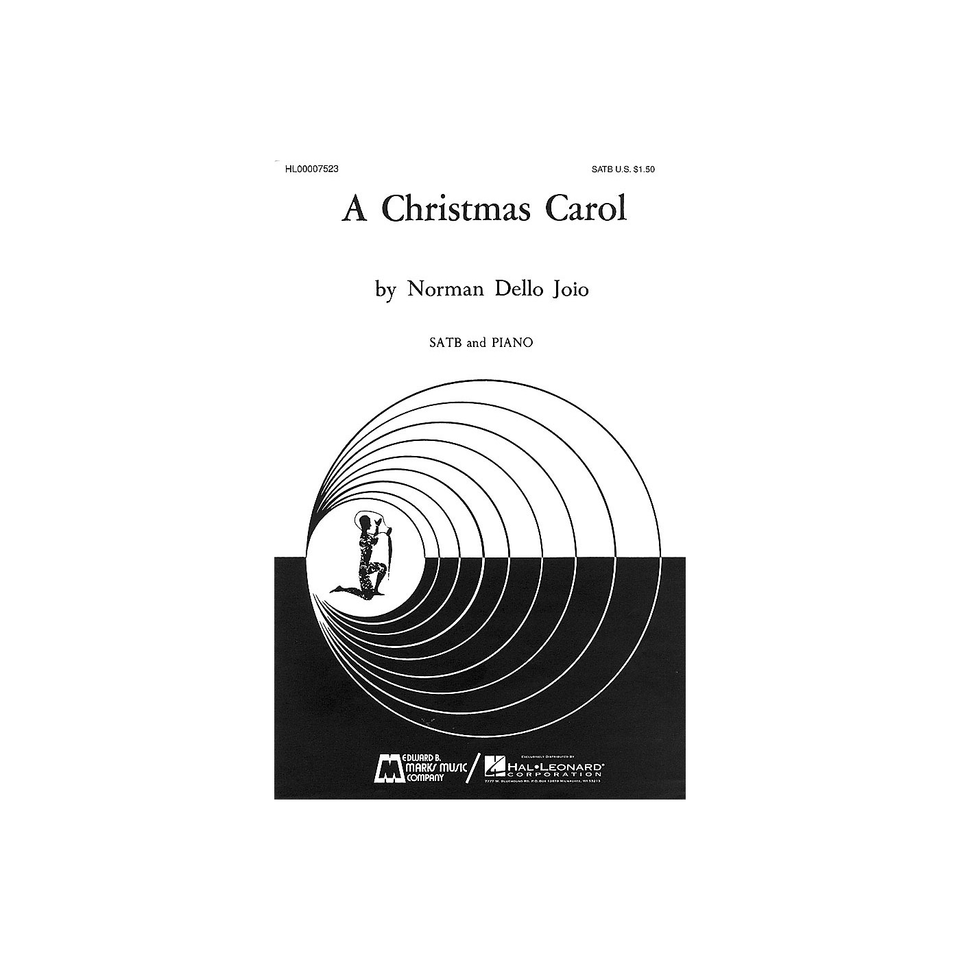 Edward B. Marks Music Company A Christmas Carol SATB composed by Norman Dello Joio thumbnail