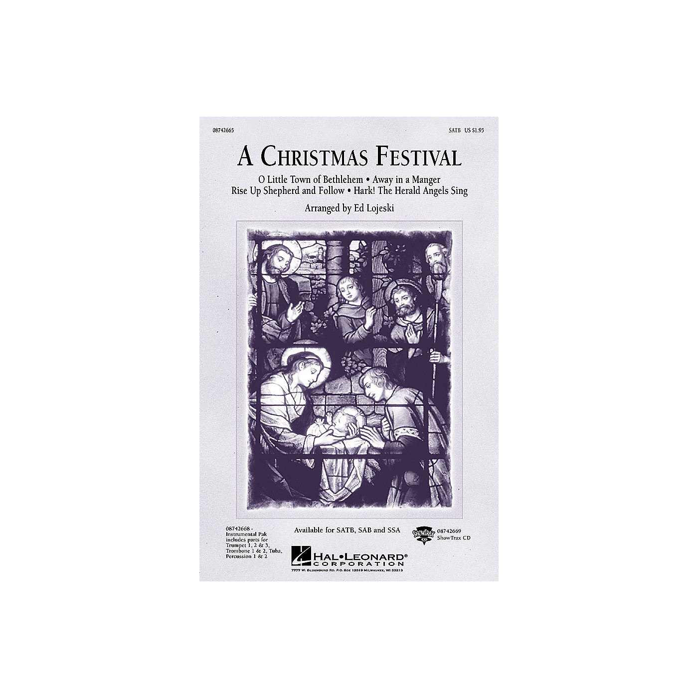 Hal Leonard A Christmas Festival (Medley) SATB arranged by Ed Lojeski thumbnail