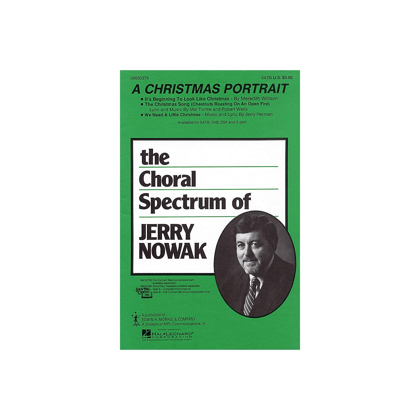 Hal Leonard A Christmas Portrait (Medley) SATB arranged by Jerry Nowak thumbnail