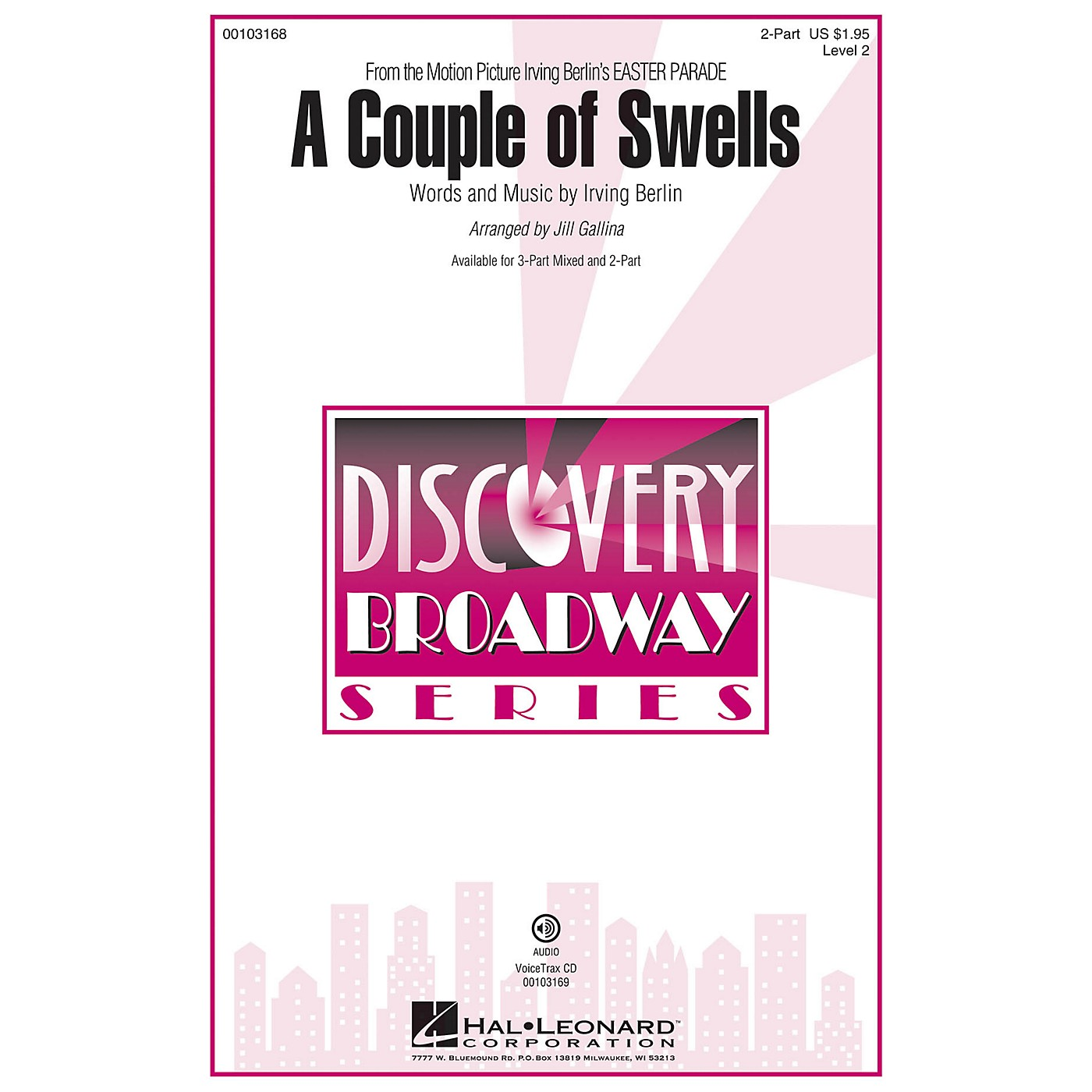 Hal Leonard A Couple of Swells (from Easter Parade) Discovery Level 2 2-Part 2-Part arranged by Jill Gallina thumbnail