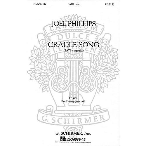 G. Schirmer A Cradle Song (SATB a cappella) SATB DV A Cappella composed by Joel Phillips thumbnail