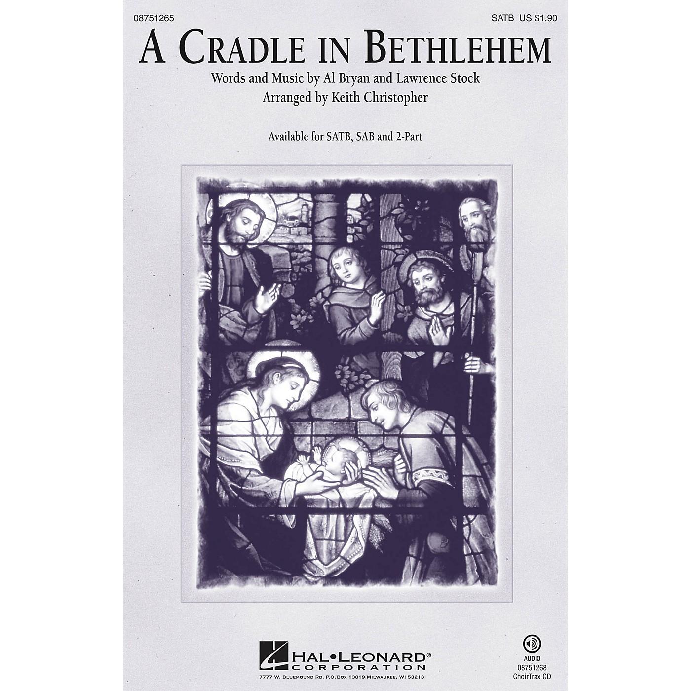 Hal Leonard A Cradle in Bethlehem CHOIRTRAX CD Arranged by Keith Christopher thumbnail