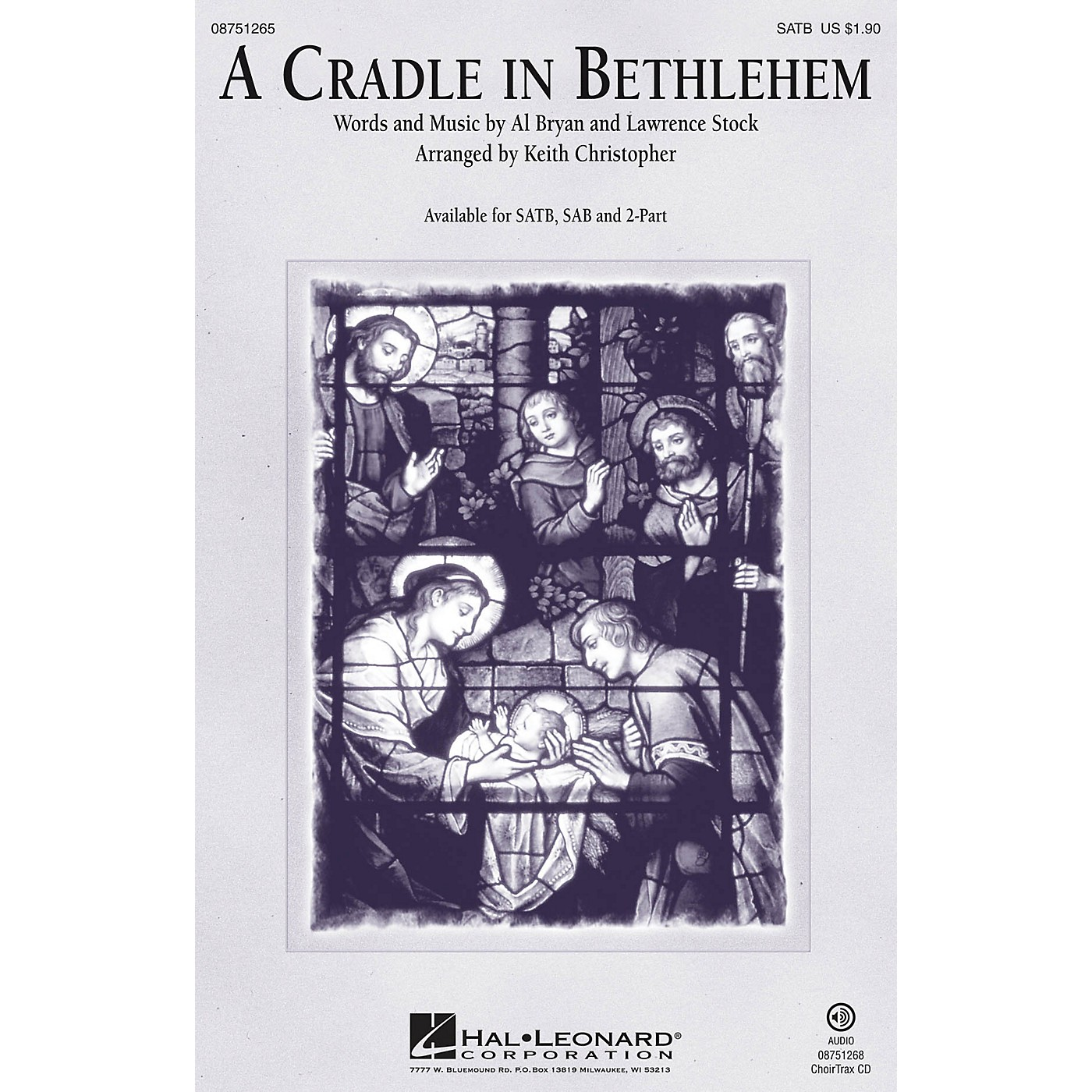 Hal Leonard A Cradle in Bethlehem SATB arranged by Keith Christopher thumbnail