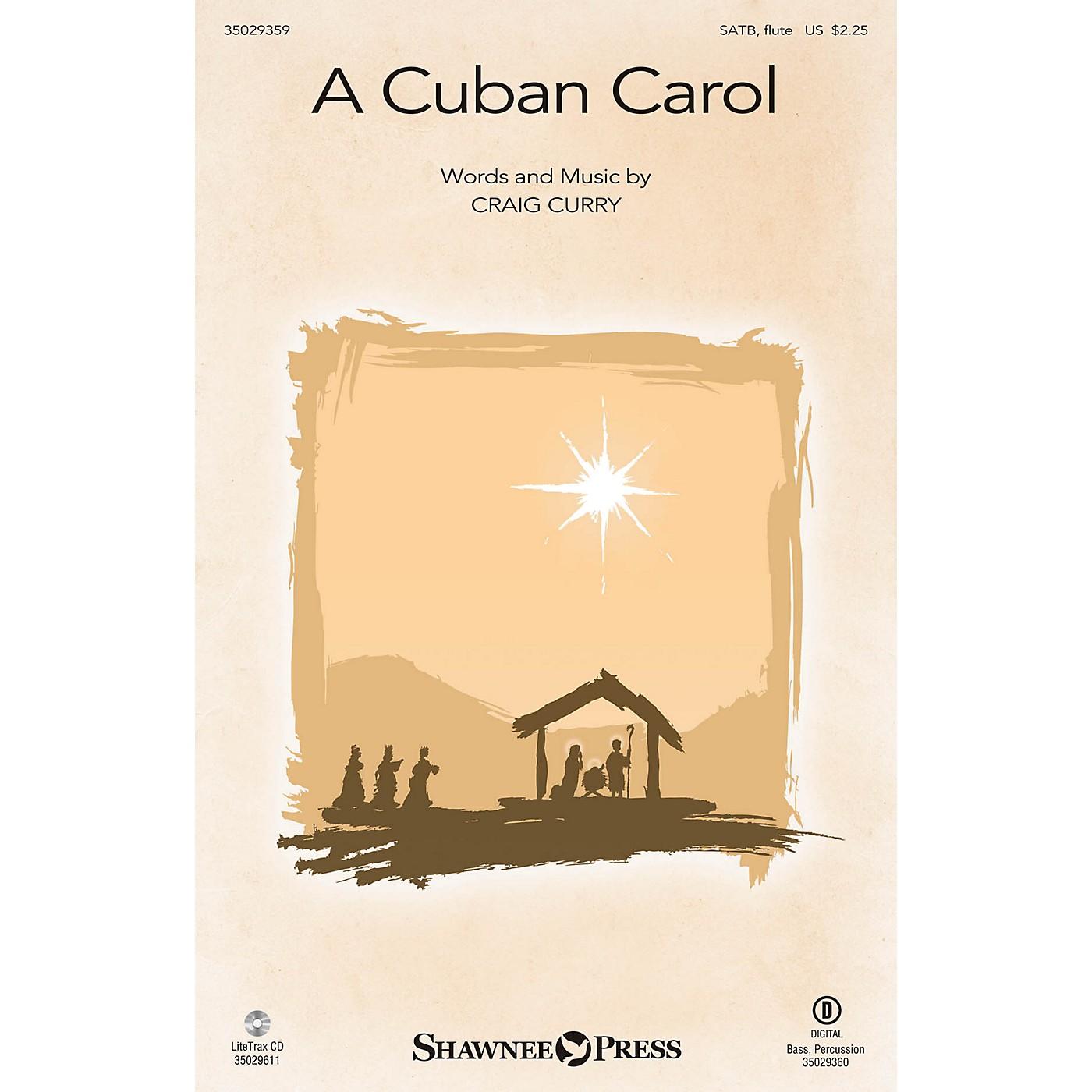 Shawnee Press A Cuban Carol SATB W/ FLUTE composed by Craig Curry thumbnail