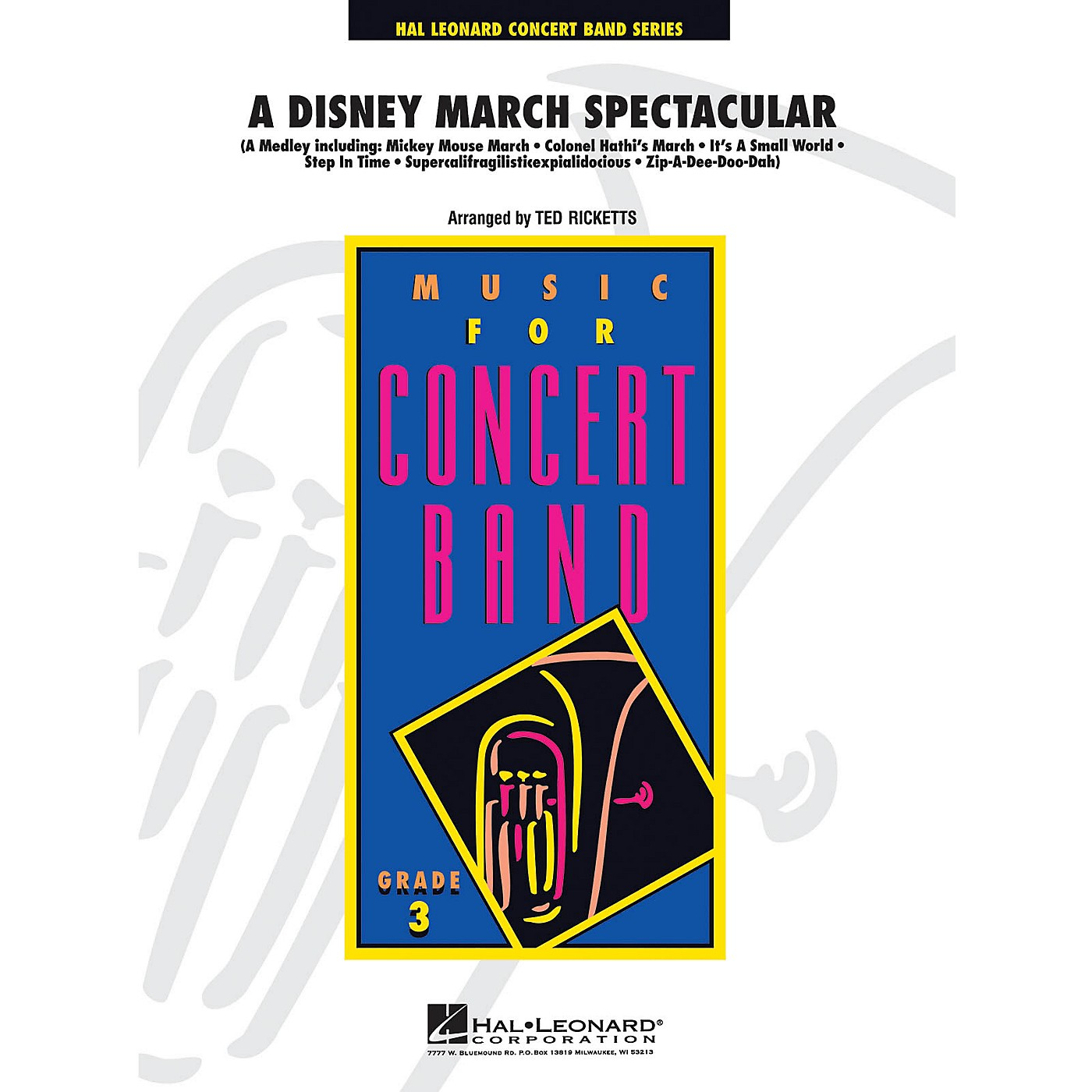 Hal Leonard A Disney March Spectacular - Young Concert Band Level 3 by Ted Ricketts thumbnail