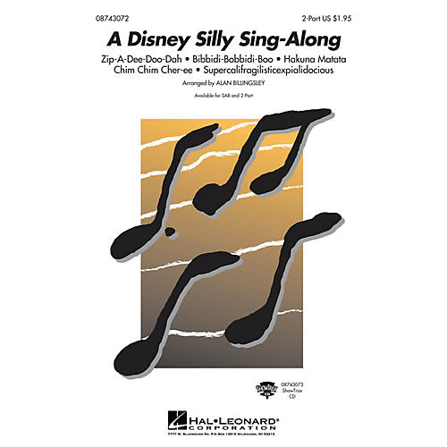 Hal Leonard A Disney Silly Sing-Along (Medley) (2-Part and Piano) 2-Part arranged by Alan Billingsley thumbnail
