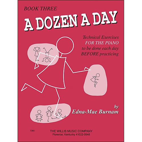 Willis Music A Dozen A Day Book 3 Technical Exercises for Piano thumbnail