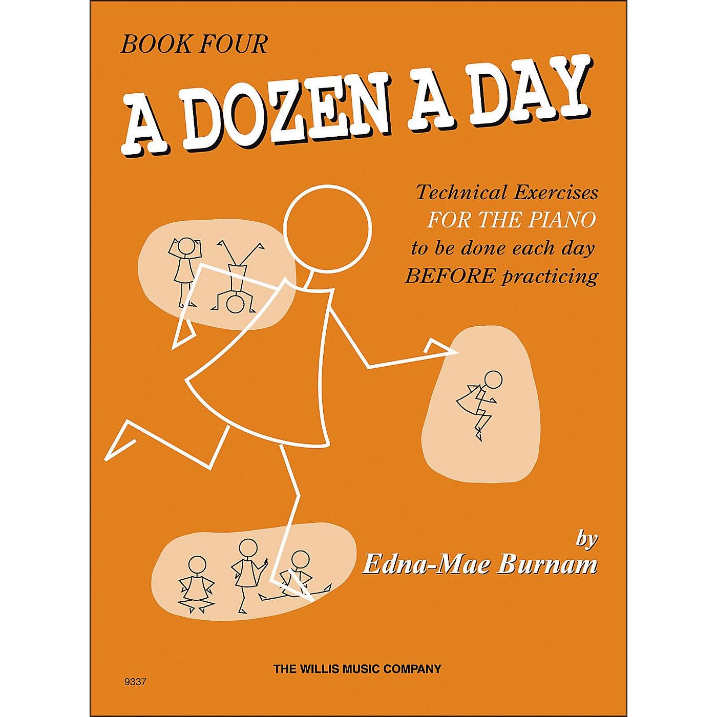 Willis Music A Dozen A Day Book 4 Technical Exercises for Piano thumbnail