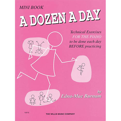 Hal Leonard A Dozen A Day Mini Book Technical Exercises For The Piano (Pink cover) thumbnail