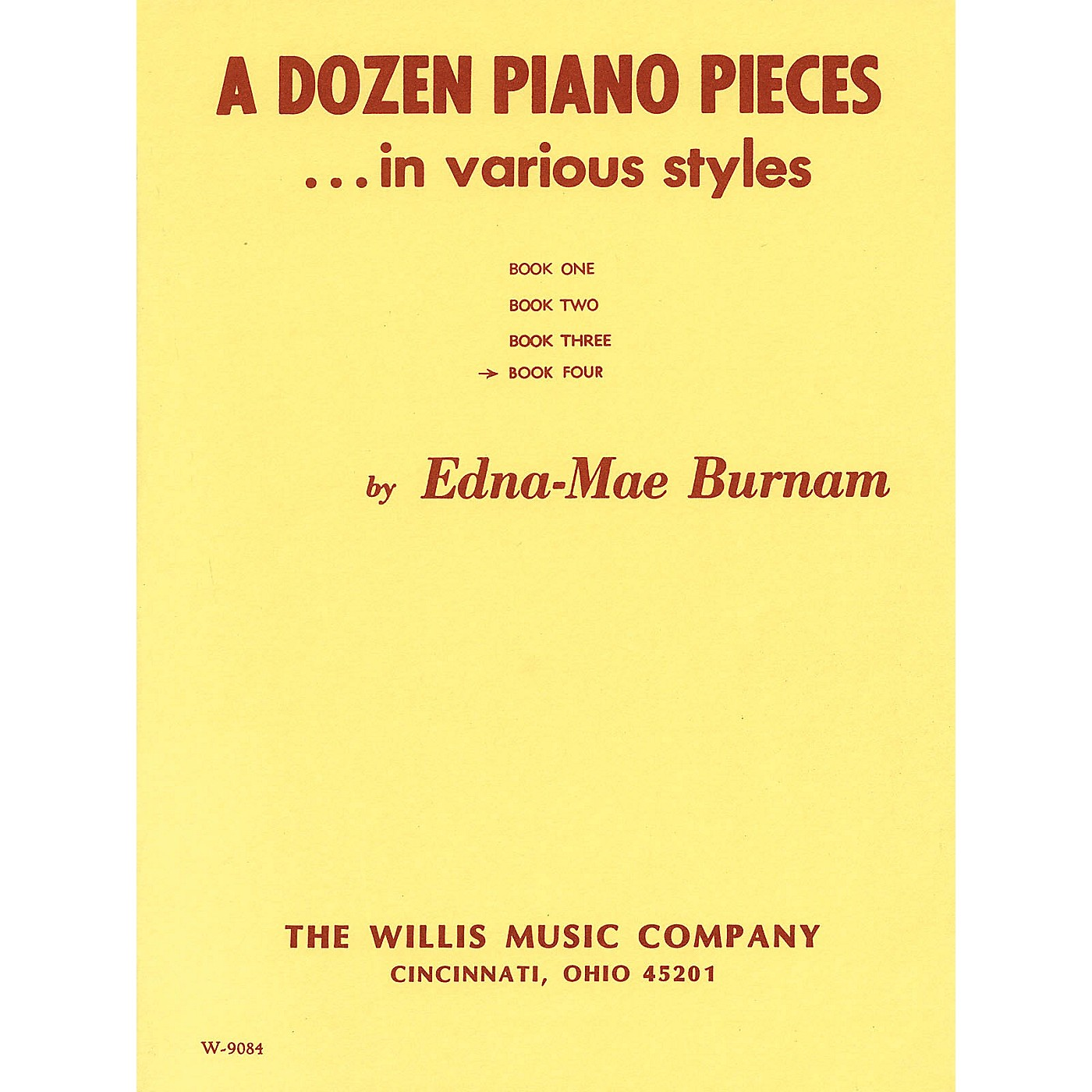 Willis Music A Dozen Piano Pieces Willis Series by Edna Mae Burnam (Level Mid to Late Inter) thumbnail