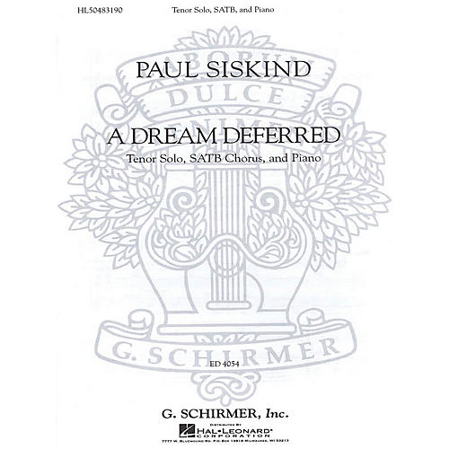 G. Schirmer A Dream Deferred (SSAATTBB Chorus and Piano) SSAATTBB composed by Paul Siskind thumbnail