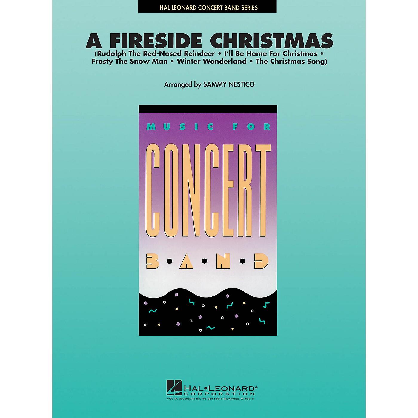 Hal Leonard A Fireside Christmas Concert Band Level 4 Arranged by Sammy Nestico thumbnail