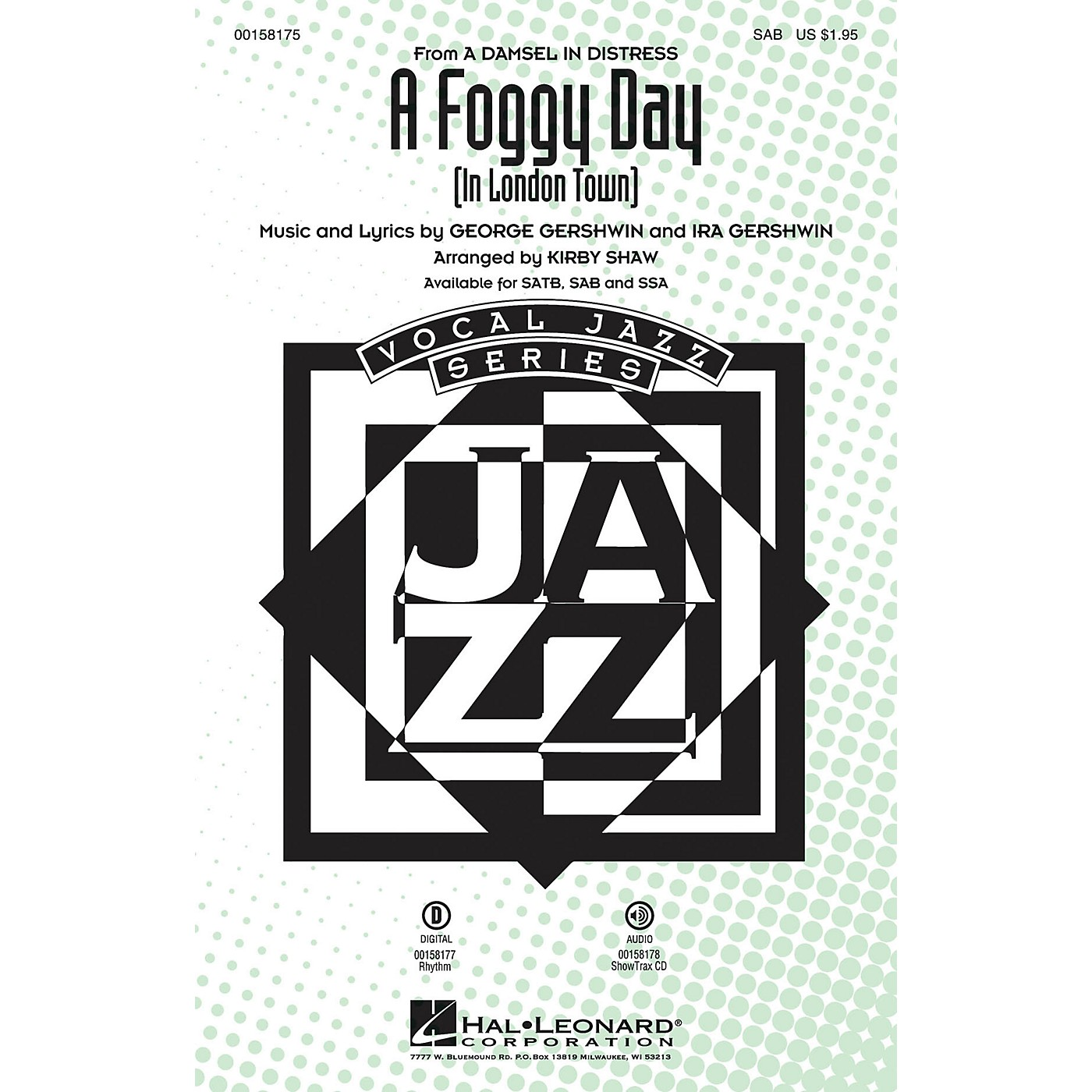 Hal Leonard A Foggy Day (In London Town) SAB arranged by Kirby Shaw thumbnail