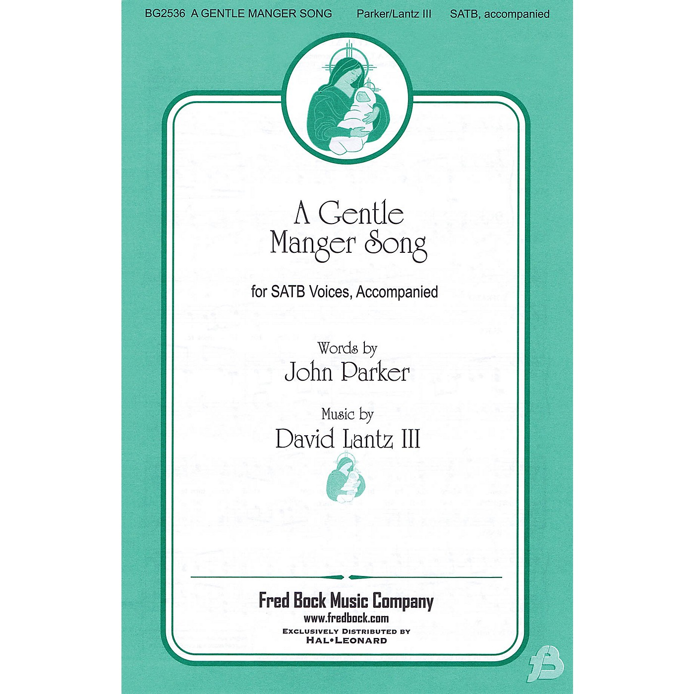 Fred Bock Music A Gentle Manger Song SATB composed by John Parker thumbnail