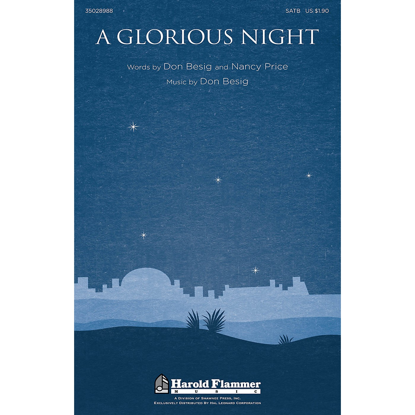 Shawnee Press A Glorious Night SATB composed by Don Besig thumbnail