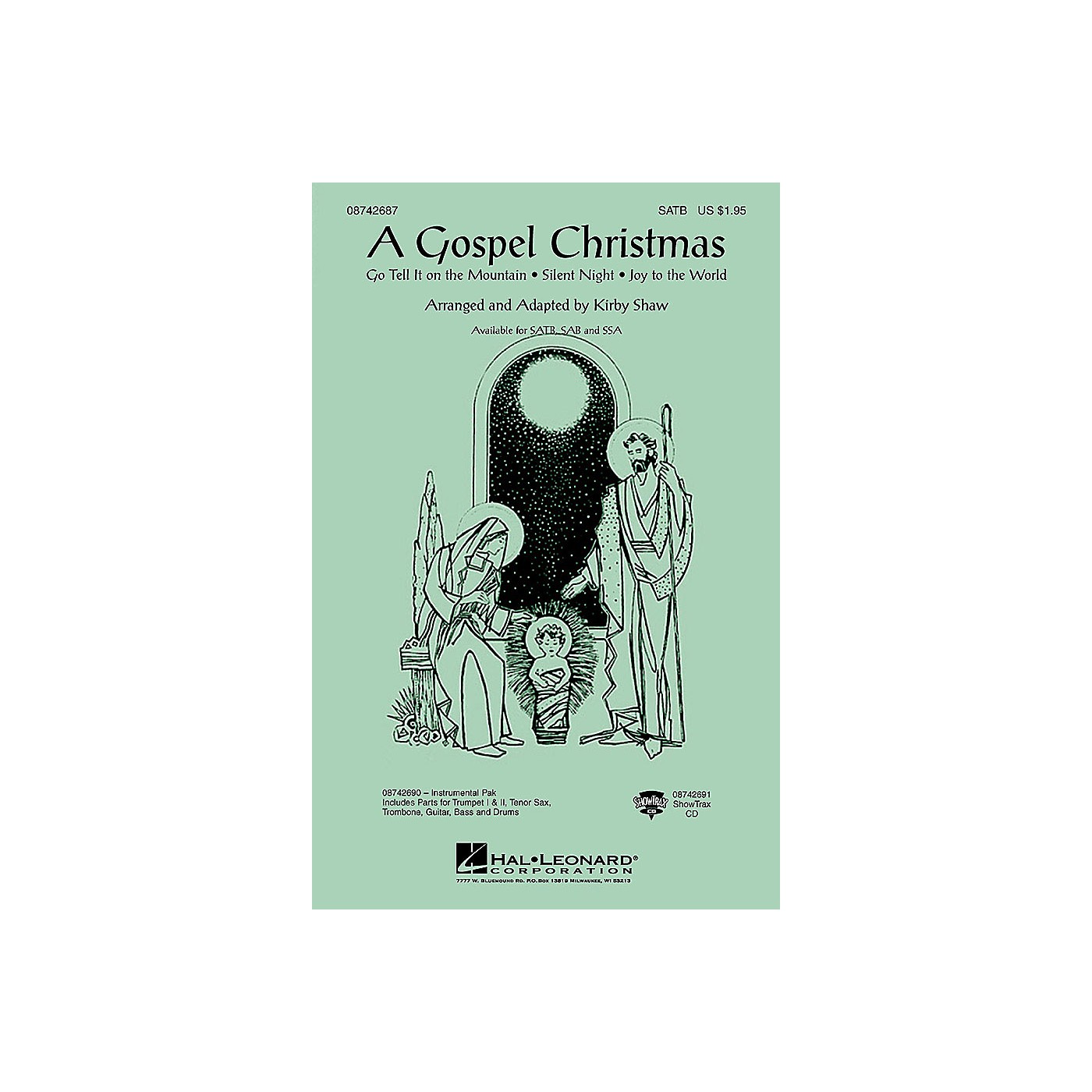 Hal Leonard A Gospel Christmas (Medley) Combo Parts Arranged by Kirby Shaw thumbnail