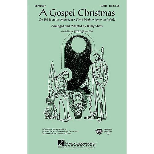 Hal Leonard A Gospel Christmas (Medley) SAB Arranged by Kirby Shaw thumbnail