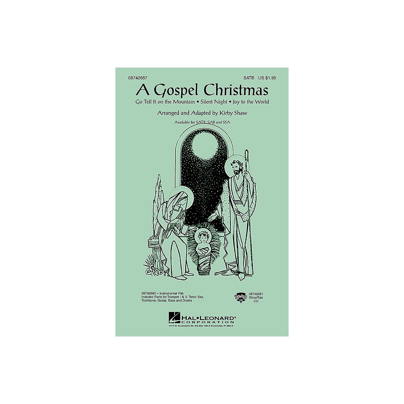 Hal Leonard A Gospel Christmas (Medley) SSA Arranged by Kirby Shaw thumbnail