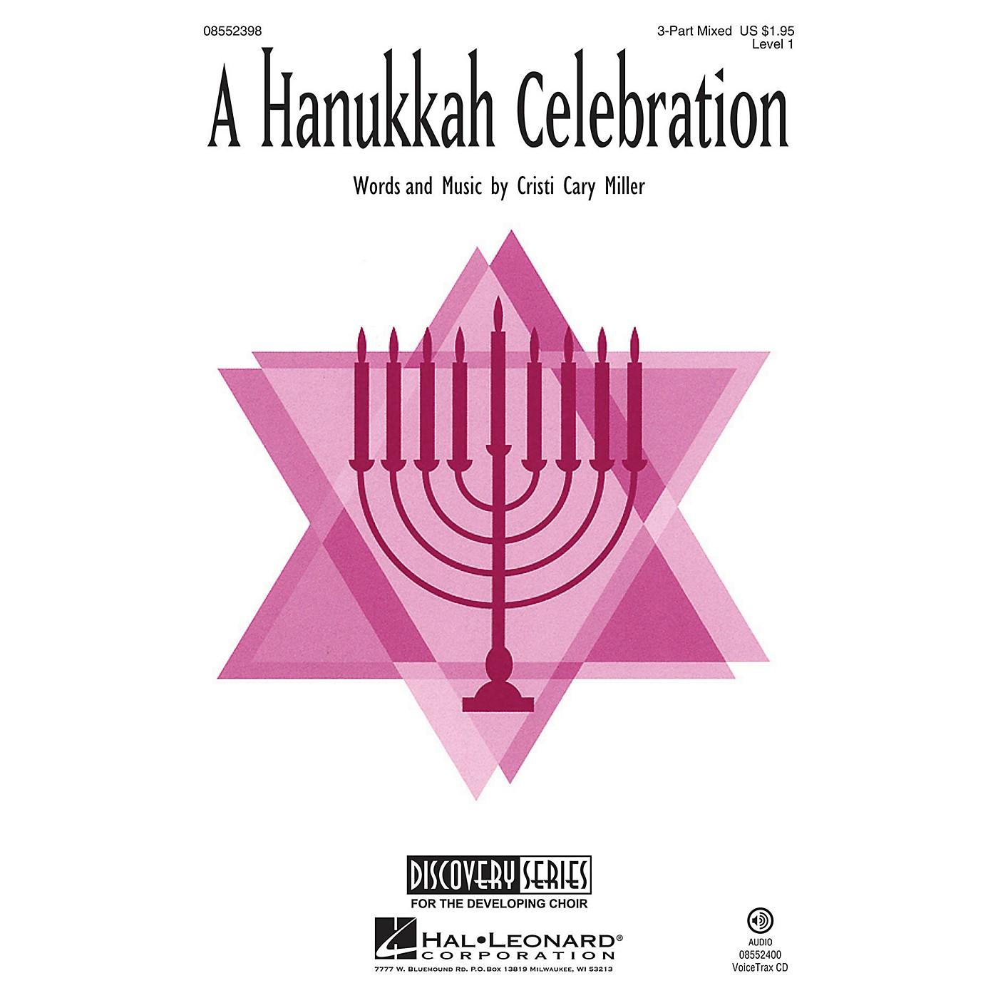 Hal Leonard A Hanukkah Celebration (Discovery Level 1) 3 Part Treble Composed by Cristi Cary Miller thumbnail