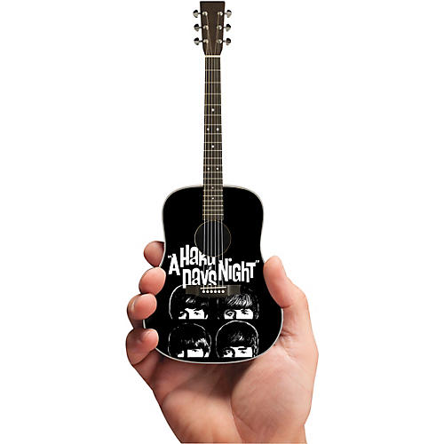 Axe Heaven A Hard Days Night Fab Four Tribute Acoustic Guitar Officially Licensed Miniature Guitar Replica thumbnail