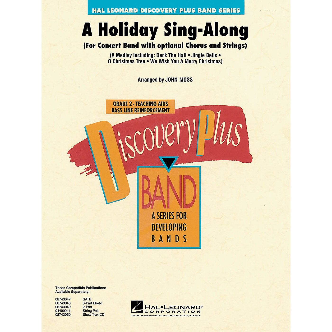 Hal Leonard A Holiday Sing-Along - Discovery Plus Concert Band Series Level 2 arranged by John Moss thumbnail