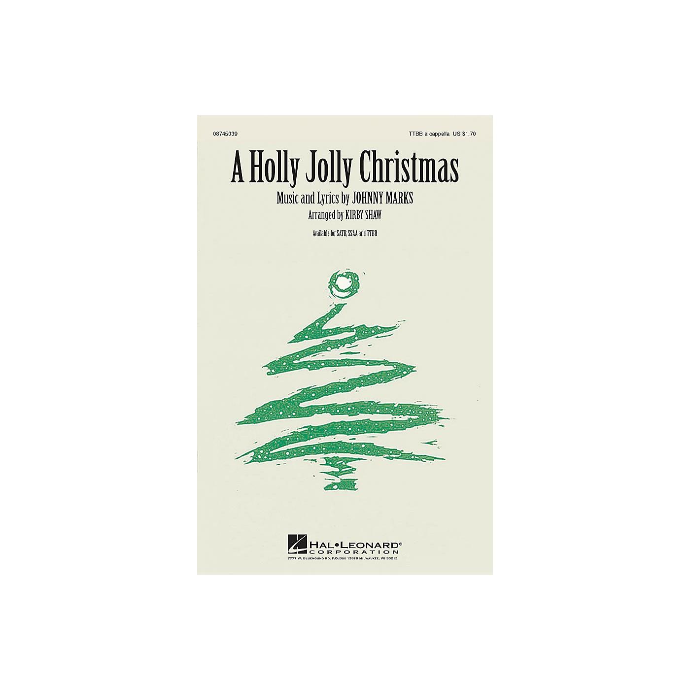 Hal Leonard A Holly Jolly Christmas TTBB A Cappella arranged by Kirby Shaw thumbnail