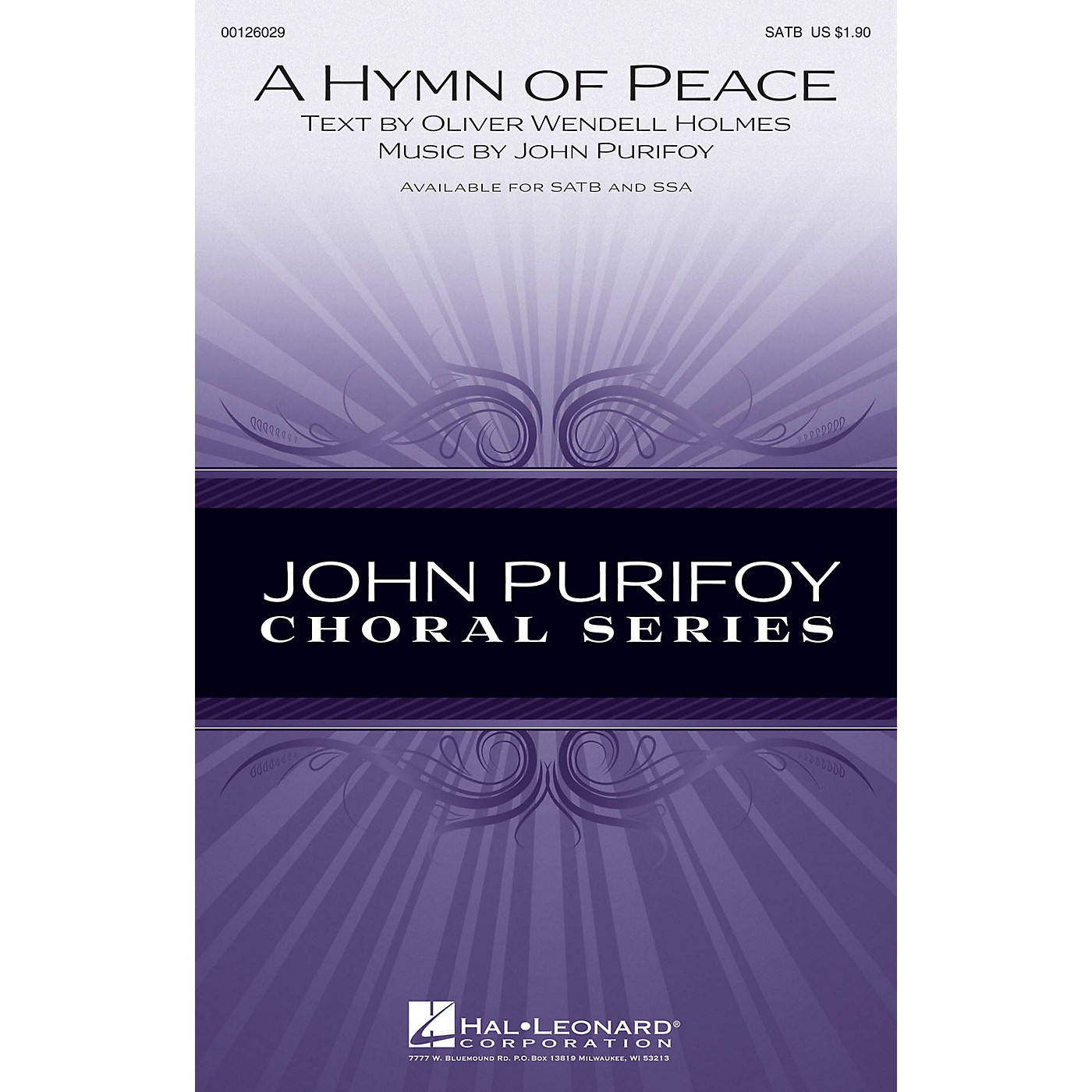 Hal Leonard A Hymn of Peace SSA Composed by John Purifoy thumbnail