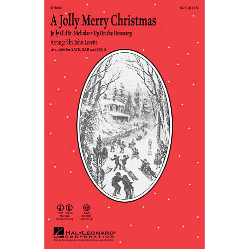 Hal Leonard A Jolly Merry Christmas Chamber Orchestra Arranged by John Leavitt thumbnail