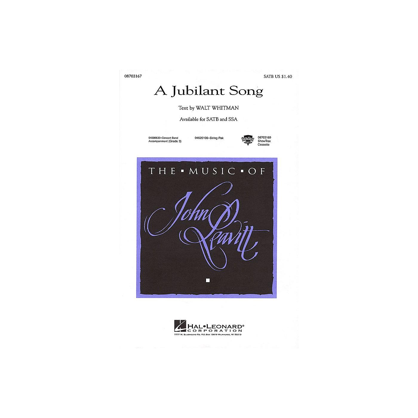 Hal Leonard A Jubilant Song SSA Composed by John Leavitt thumbnail