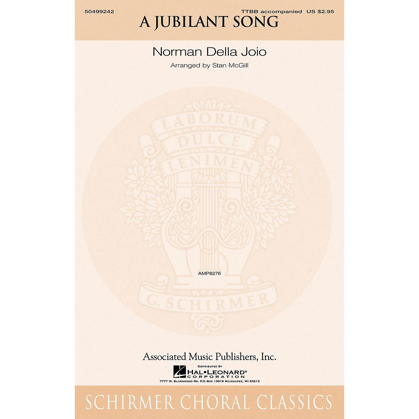 G. Schirmer A Jubilant Song TTBB arranged by Stan McGill thumbnail