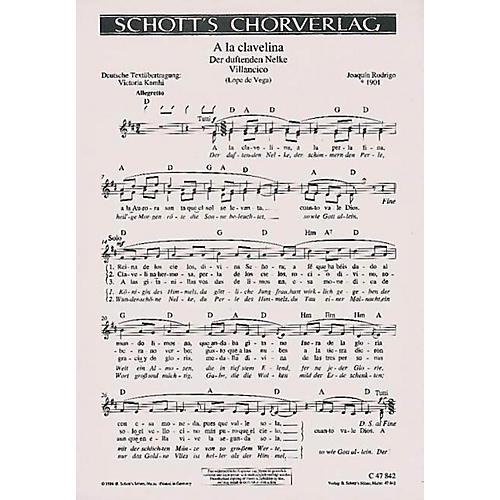 Schott A La Clavelina Composed by Joaquín Rodrigo thumbnail