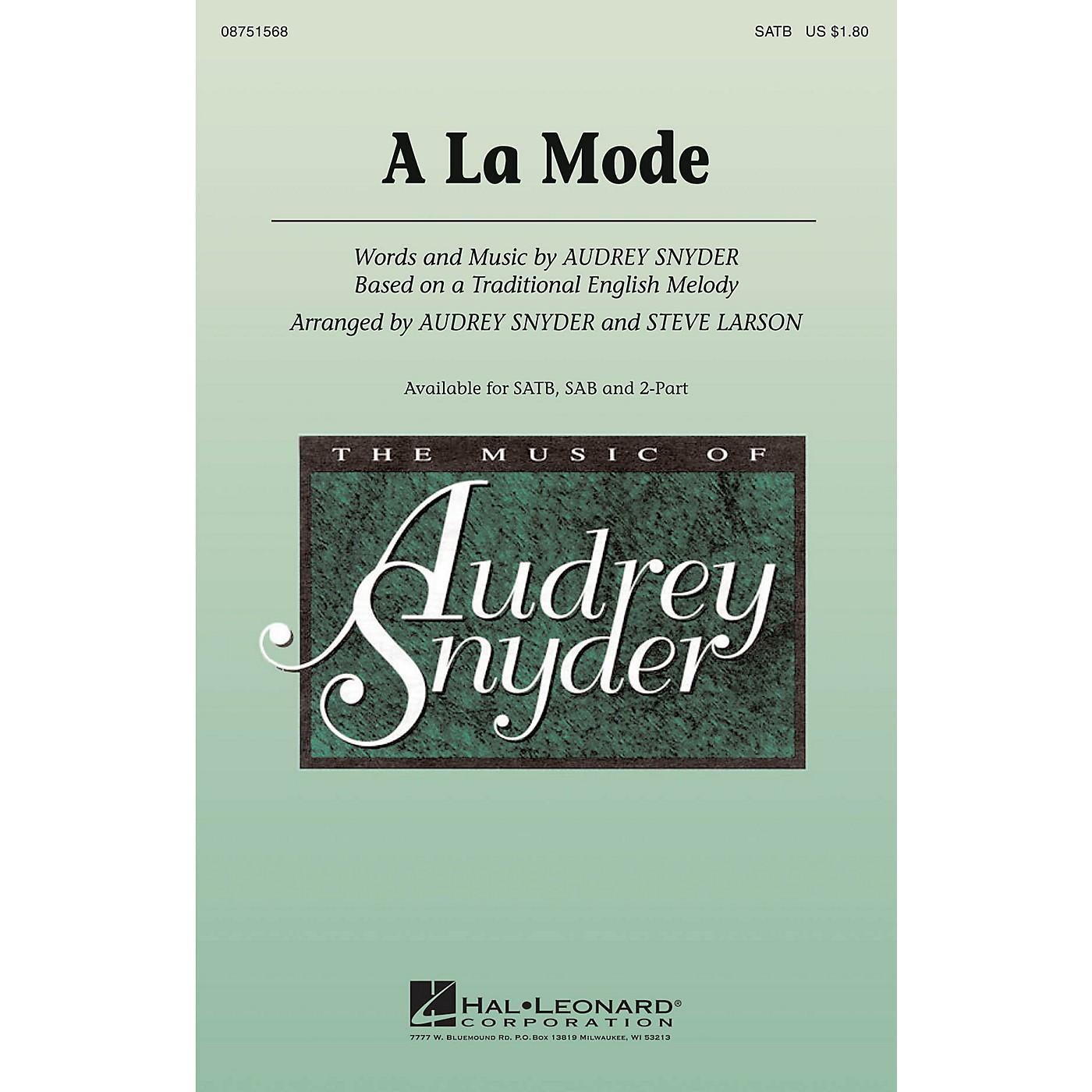 Hal Leonard A La Mode 2-Part Arranged by Audrey Snyder thumbnail