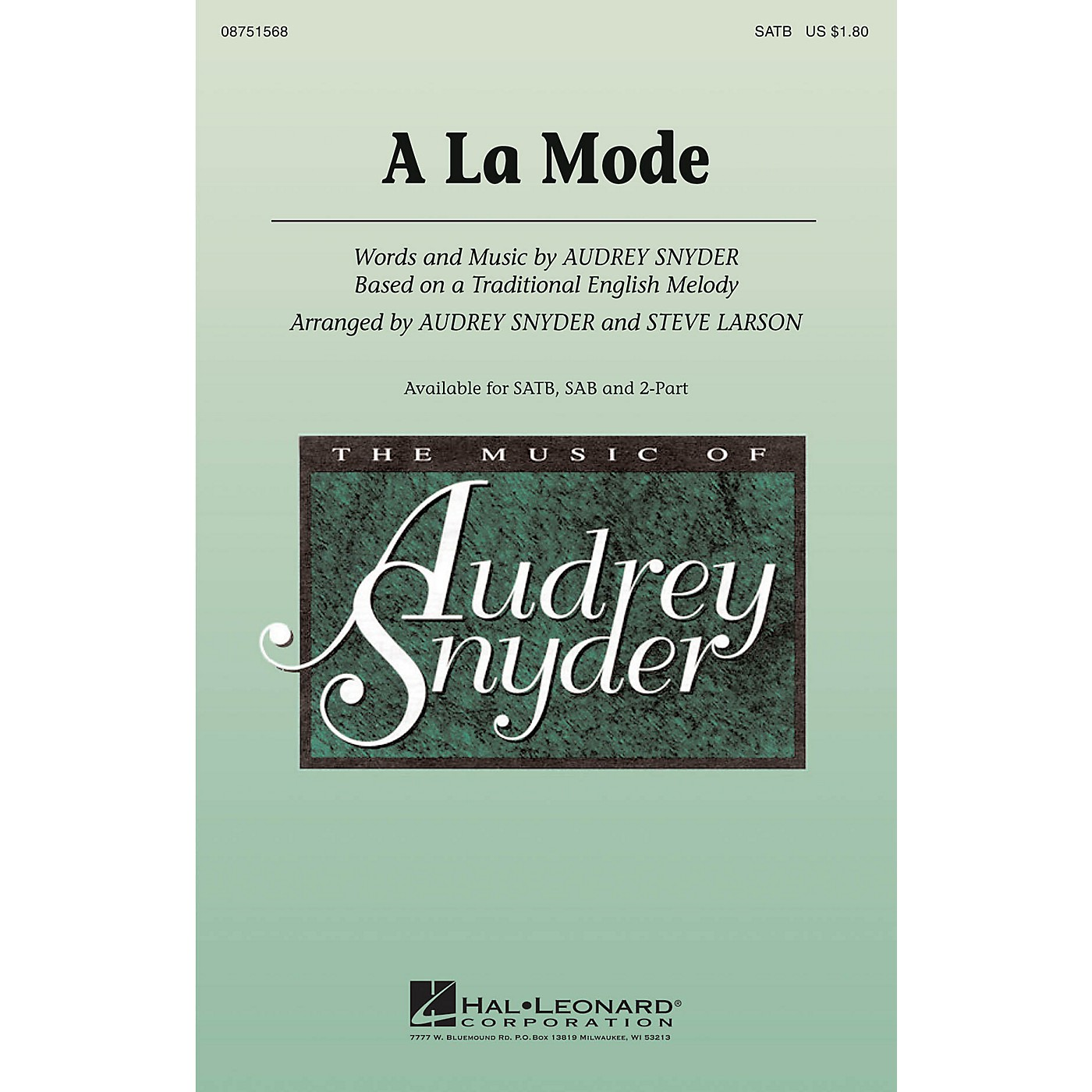 Hal Leonard A La Mode SAB Arranged by Audrey Snyder thumbnail