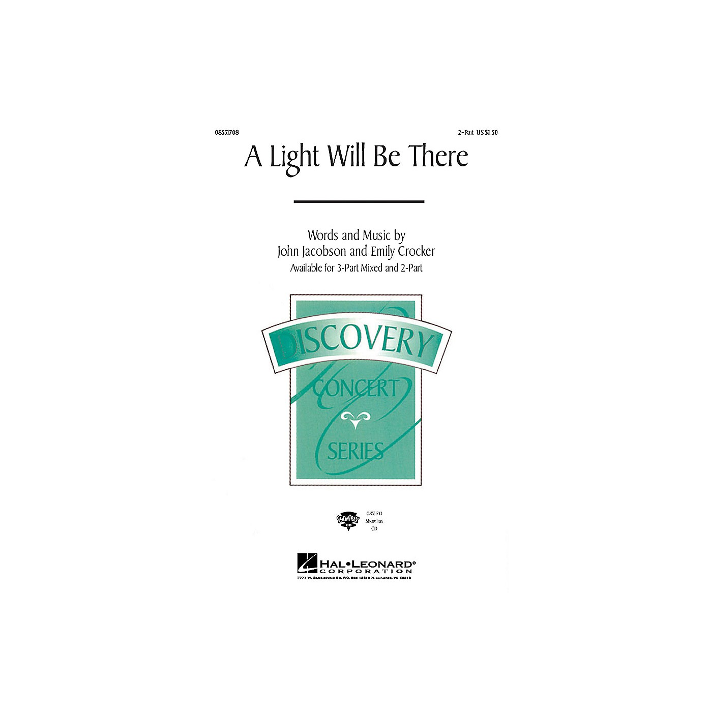 Hal Leonard A Light Will Be There 2-Part composed by John Jacobson thumbnail