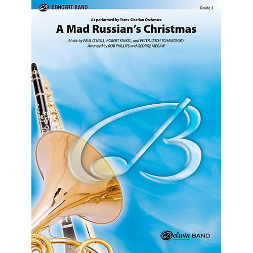 Alfred A Mad Russian's Christmas Concert Band Grade 3 (Medium Easy) thumbnail