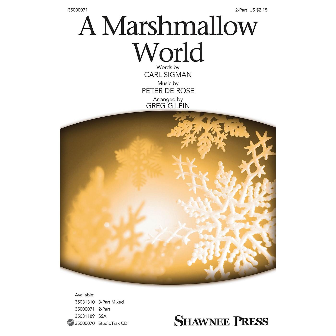 Shawnee Press A Marshmallow World 2-Part arranged by Greg Gilpin thumbnail