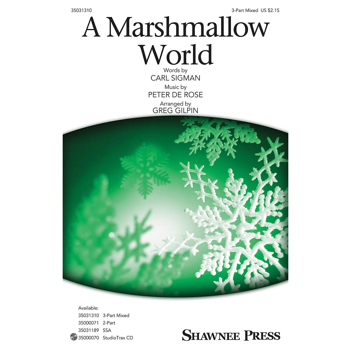 Shawnee Press A Marshmallow World 3-Part Mixed arranged by Greg Gilpin thumbnail