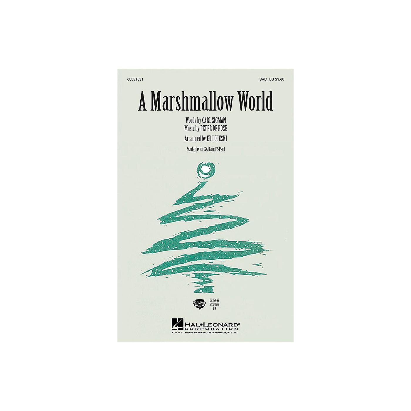 Hal Leonard A Marshmallow World SAB arranged by Ed Lojeski thumbnail