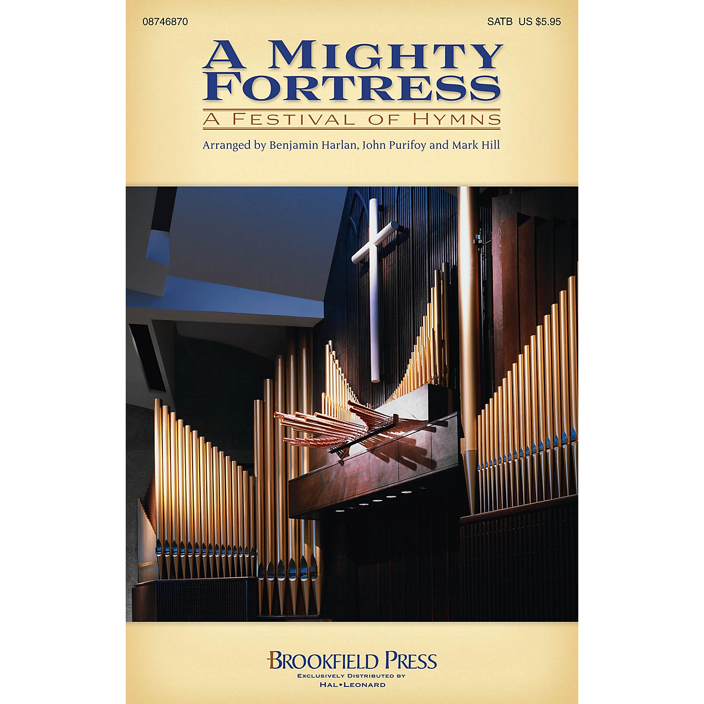 Brookfield A Mighty Fortress - A Festival of Hymns SATB arranged by Benjamin Harlan thumbnail