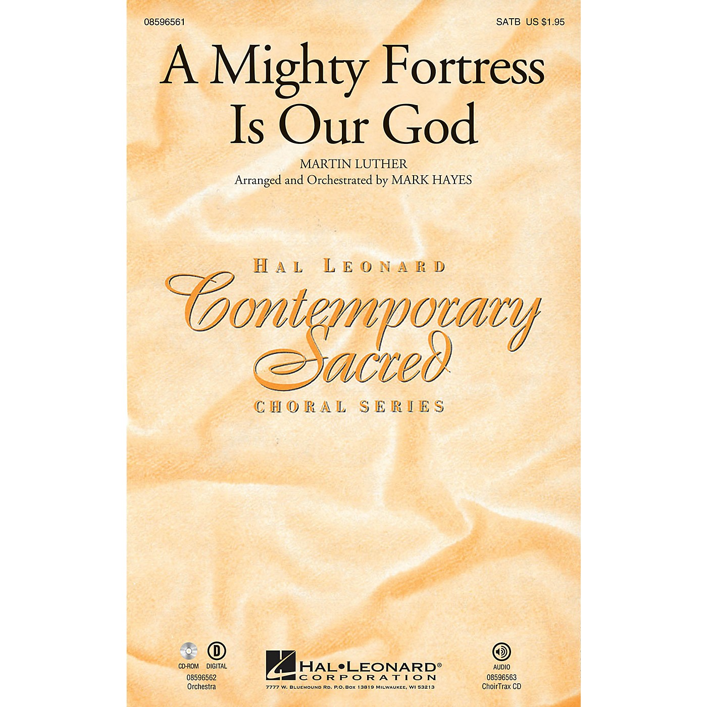 Hal Leonard A Mighty Fortress Is Our God ORCHESTRA ACCOMPANIMENT Arranged by Mark Hayes thumbnail