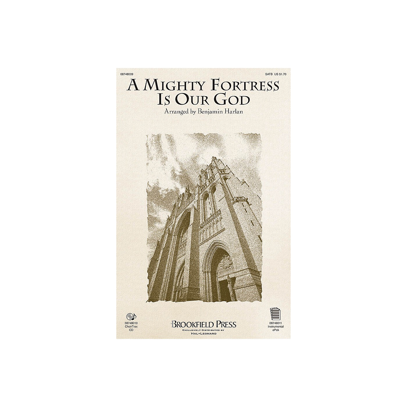 Brookfield A Mighty Fortress Is Our God SATB arranged by Benjamin Harlan thumbnail