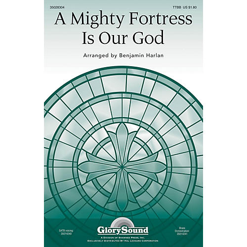 Shawnee Press A Mighty Fortress Is Our God TTBB arranged by Benjamin Harlan thumbnail