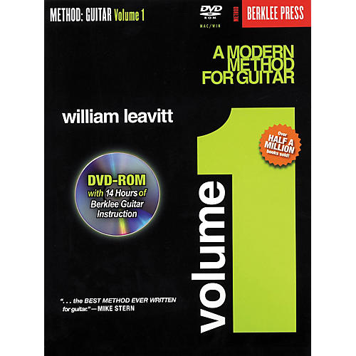 Berklee Press A Modern Method for Guitar - Volume 1 (Book/DVD-Rom) thumbnail