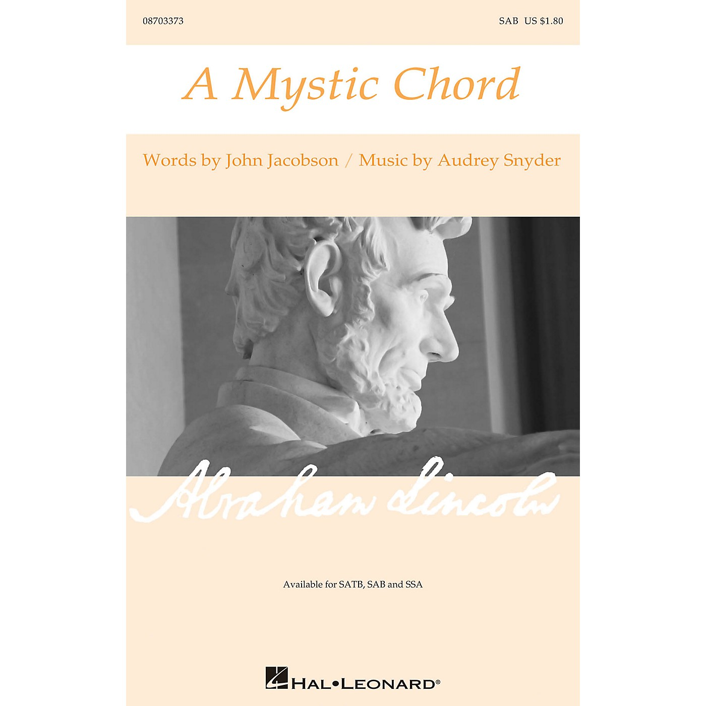 Hal Leonard A Mystic Chord SAB composed by Audrey Snyder thumbnail