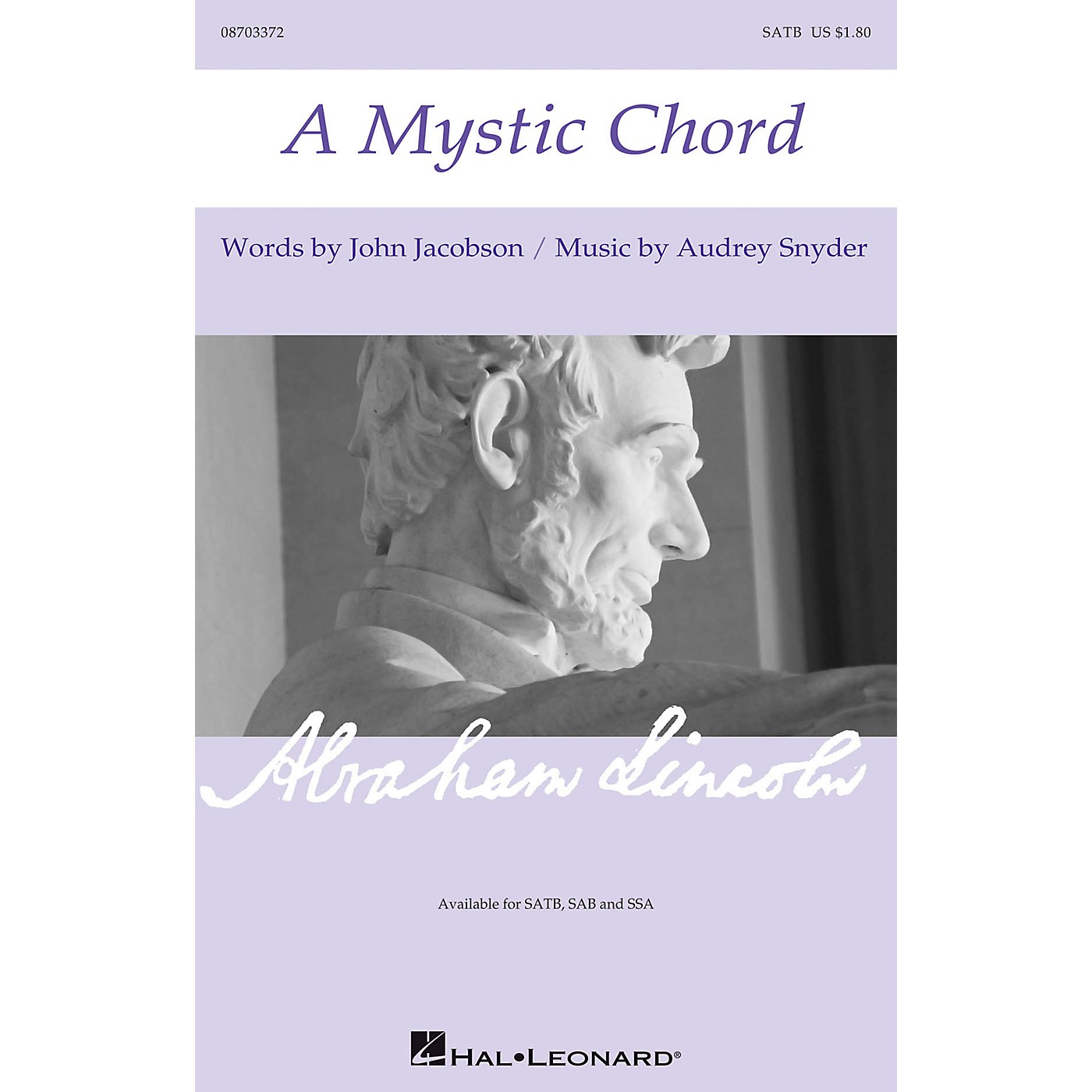 Hal Leonard A Mystic Chord SATB composed by Audrey Snyder thumbnail