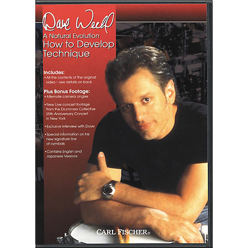 Carl Fischer A Natural Evolution: How to Develop Technique by Dave Weckl DVD thumbnail