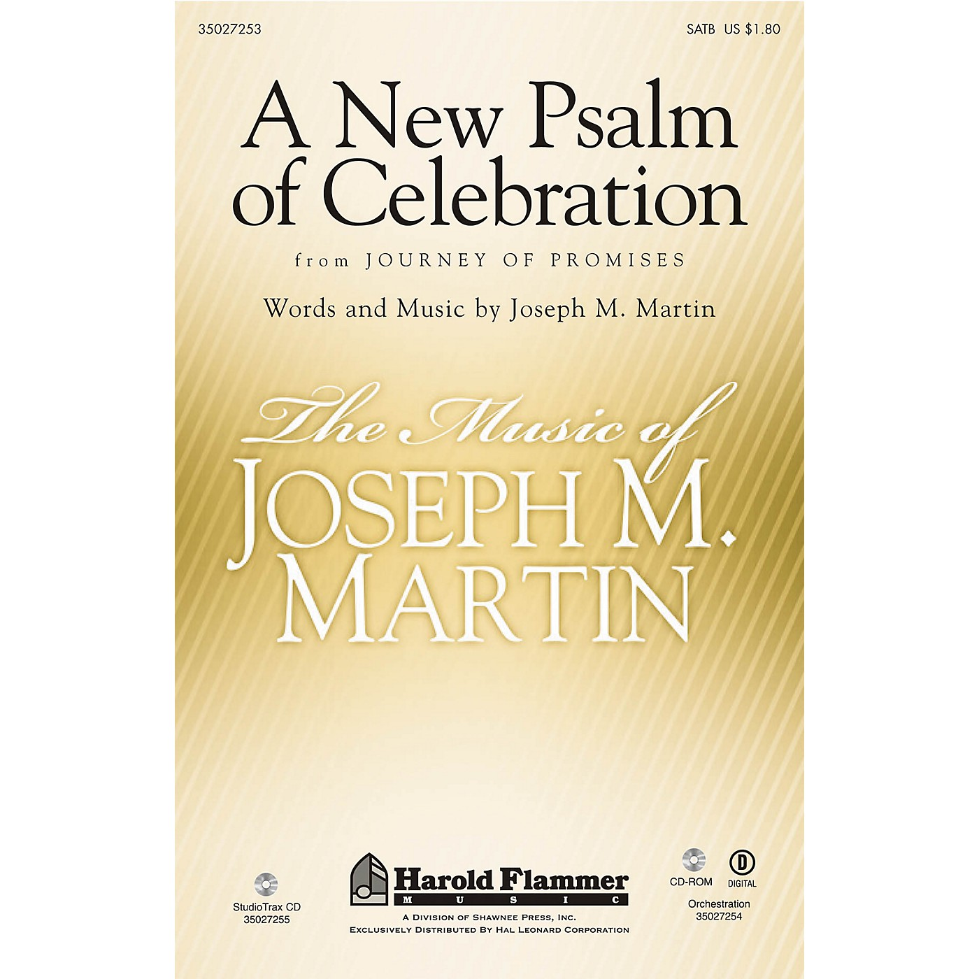 Shawnee Press A New Psalm of Celebration (From Journey of Promises) Studiotrax CD Composed by Joseph M. Martin thumbnail